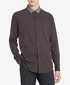 Calvin Klein Men's Contrast Collar Shirt