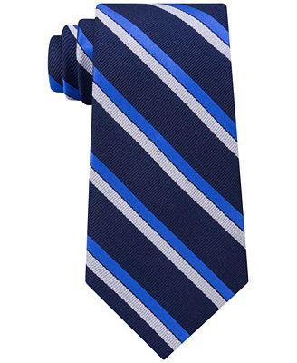 Tommy Hilfiger Men's Stripe Silk Tie