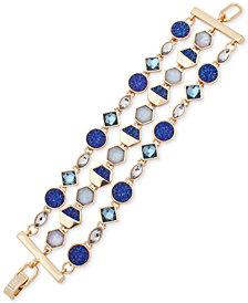 Ivanka Trump Gold-Tone Three-Layer Stone Link Bracelet