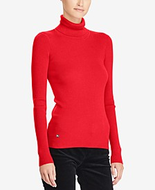 Ribbed Turtleneck Sweater, Regular & Petite Sizes