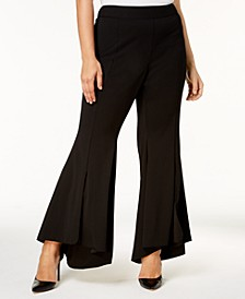 INC Plus Size Flared High-Low Hem Pants, Created for Macy's