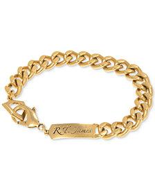 R.T. James Men's Logo Link Bracelet, Created for Macy's