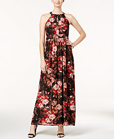 Nine West Floral-Print Maxi Dress