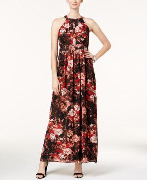 Nine West Floral-Print Maxi Dress 5440123