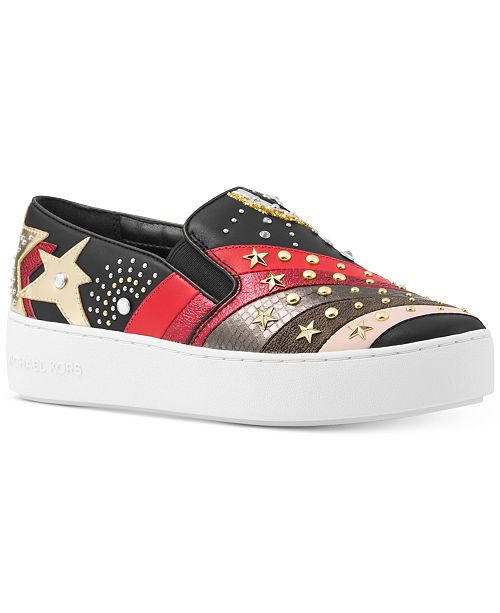 c1c7f562a05f Michael Kors Trent Embellished Slip-On Sneakers   Reviews - Sneakers ...