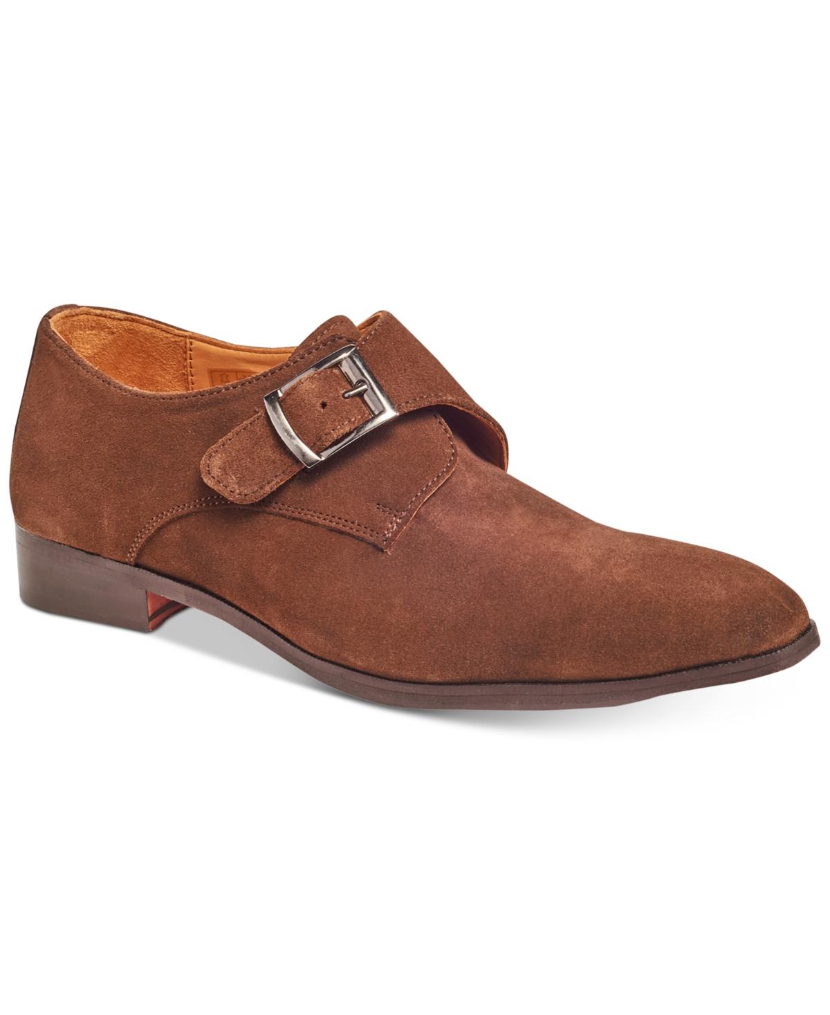 Carlos by Carlos Santana Men's Freedom Single Monk-Strap Suede Loafers Men's Shoes