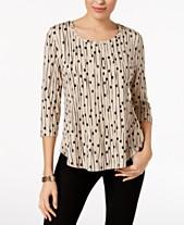 Women s Petite Tops - Blouses   Shirts - Macy s 65e0f8035