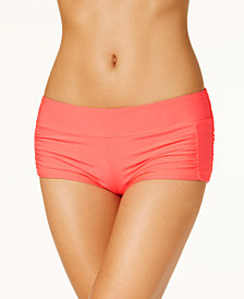 Hula Honey Ruched-Side Swim Shorts, Created for Macy's