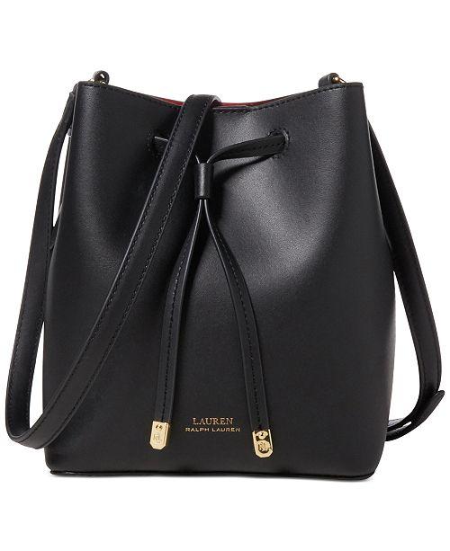 0a222c8d45 ... Lauren Ralph Lauren Dryden Debby II Mini Leather Drawstring Bag ...