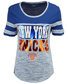 5th & Ocean Women's New York Knicks Space Dye Foil T-Shirt