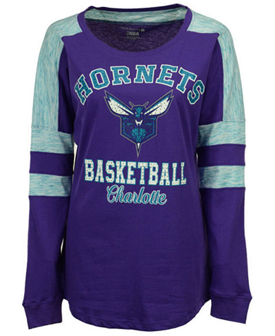 5th & Ocean Women's Charlotte Hornets Space Dye Long Sleeve T-Shirt