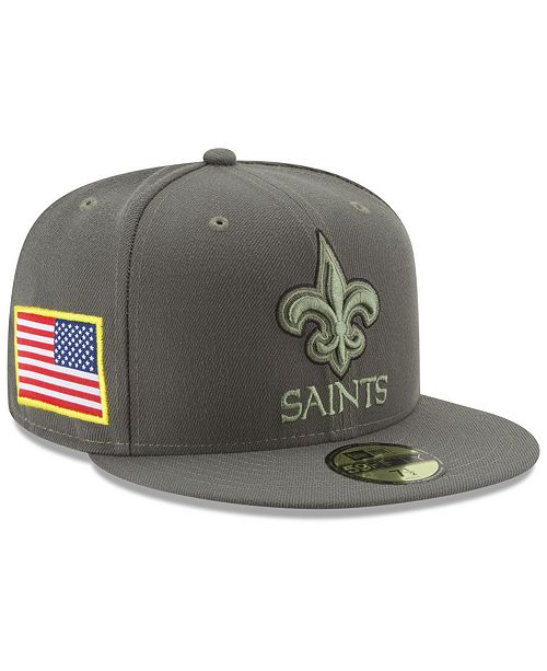 ... New Era New Orleans Saints Salute To Service 59FIFTY Fitted Cap ... ec1e14e72