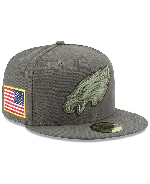 ... New Era Philadelphia Eagles Salute To Service 59FIFTY Fitted Cap ... 657129d814c