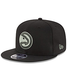 New Era Atlanta Hawks Black on Shine 9FIFTY Snapback Cap