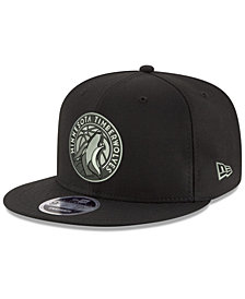 New Era Minnesota Timberwolves Black on Shine 9FIFTY Snapback Cap