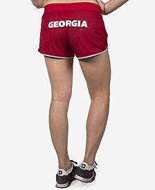 NUYU Women's Georgia Bulldogs Mesh Running Shorts