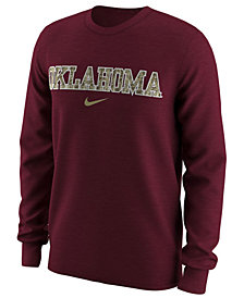 Nike Men's Oklahoma Sooners Camo Logo Long Sleeve T-Shirt