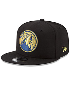 New Era Minnesota Timberwolves Gold on Team 9FIFTY Snapback Cap
