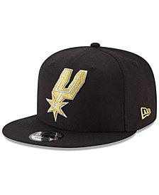 New Era San Antonio Spurs Gold on Team 9FIFTY Snapback Cap