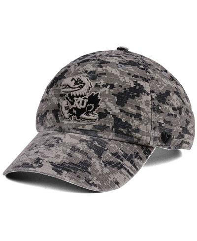 '47 Brand Kansas Jayhawks Operation Hat Trick Camo Nilan Cap