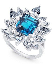 Blue Topaz (3-1/2 ct. t.w.) & White Topaz (2-5/8 ct. t.w.) Ring in Sterling Silver