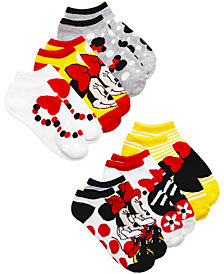 Disney's® Minnie Mouse 6-Pack No-Show Socks, Little Girls & Big Girls