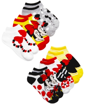 Minnie Mouse 6Pack NoShow Socks Little Girls (46X)  Big Girls (716)