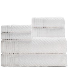 Caro Home Beacon Cotton 6-Pc. Textured Towel Set