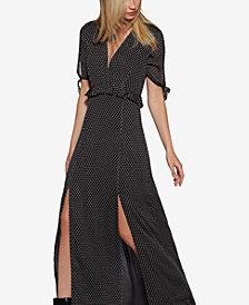 Avec Les Filles Clip-Dot Maxi Dress