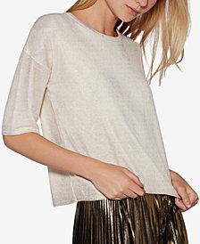 Avec Les Filles Metallic Sweater T-Shirt