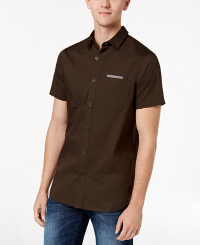 Armani Exchange Men's Stretch Pocket Shirt