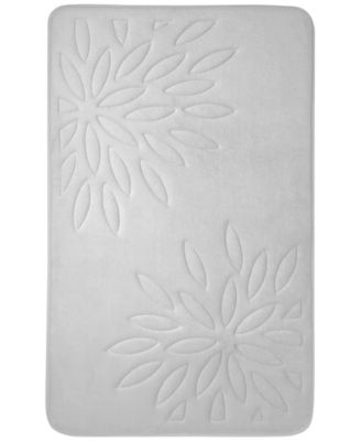 "CLOSEOUT! Inspire Floral Bath Rug, 17"" x 24"""
