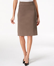 JM Collection Petite Rivet-Waist Pencil Skirt, Created for Macy's