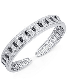 Diamond Cuff Bangle Bracelet (1/4 ct. t.w.) in Sterling Silver