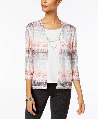 Alfred Dunner Petite Lakeshore Drive Layered-Look Necklace Top
