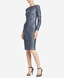 Lauren Ralph Lauren Sequin Scoop-Back Dress