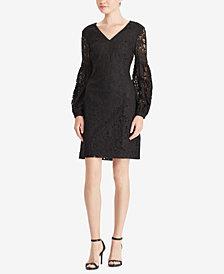 Lauren Ralph Lauren Floral-Lace-Sleeve Dress