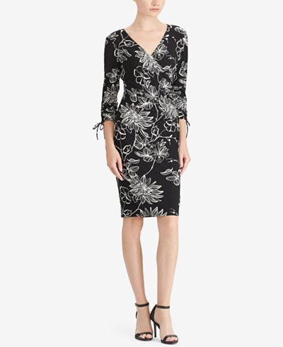 American Living Floral-Print Slim-Fit Dress