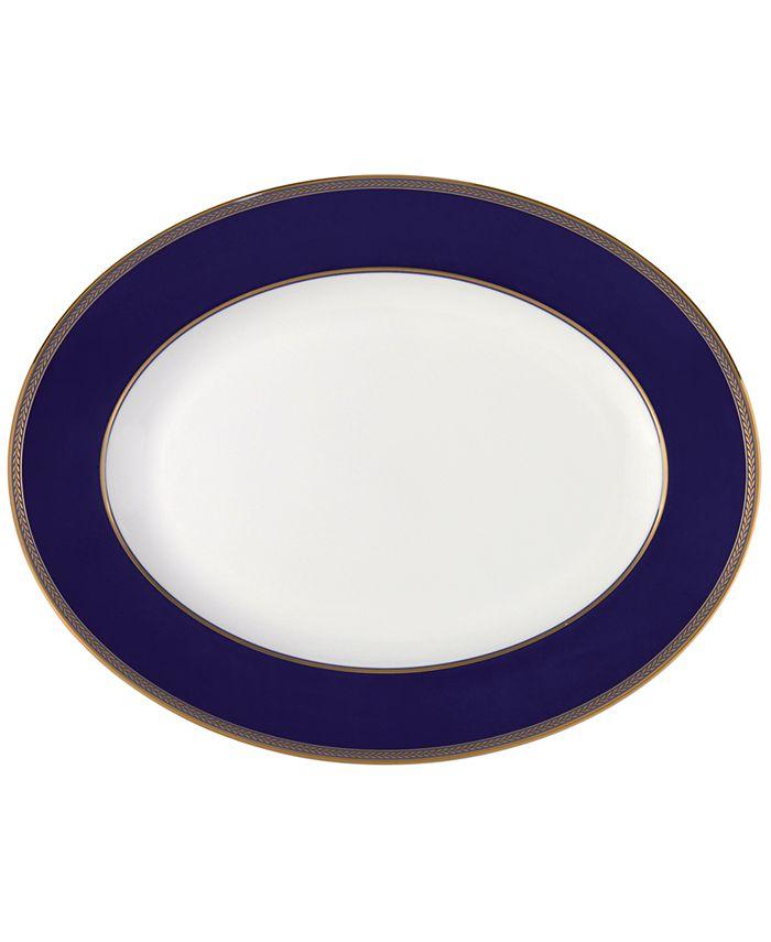 """Wedgwood - """"Renaissance Gold"""" Oval Platter, 13 3/4"""""""