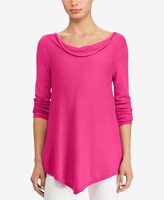 Lauren Ralph Lauren Relaxed-Fit Cowl-Neck Sweater - Sweaters ...