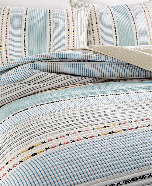 Martha Stewart Collection Cotton Earth Tone Stripe Full