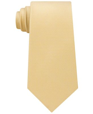 Tommy Hilfiger Men's Unsolid Solid Silk Tie