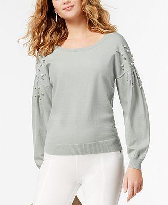 i n c embellished bishop sleeve sweater created for macy s
