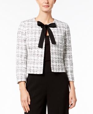 Nine West Tie-Front Tweed...