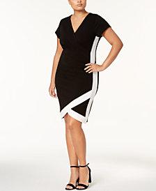 Almost Famous Trendy Plus Size Faux-Wrap Dress