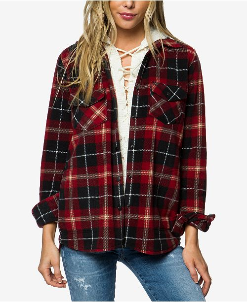 O'Neill Juniors' Zuma Fleece Plaid Shirt