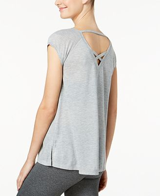 Calvin Klein Performance Cap-Sleeve Strappy-Back T-Shirt
