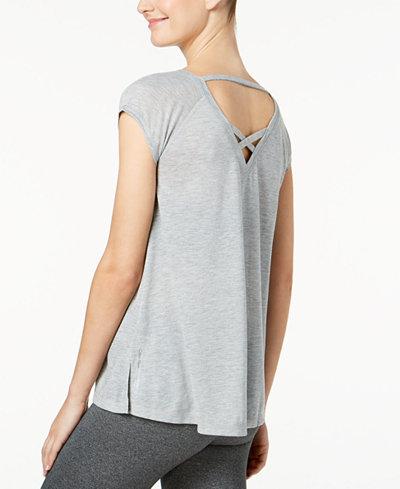 Calvin Klein Performance Cap-Sleeve Strappy-Back T-Shirt