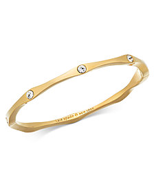 kate spade new york Pavé Wavy Bangle Bracelet