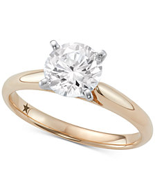 Macy's Star Signature Diamond™ Solitaire Engagement Ring (1-1/2 ct. t.w.) in 14k Gold or White Gold